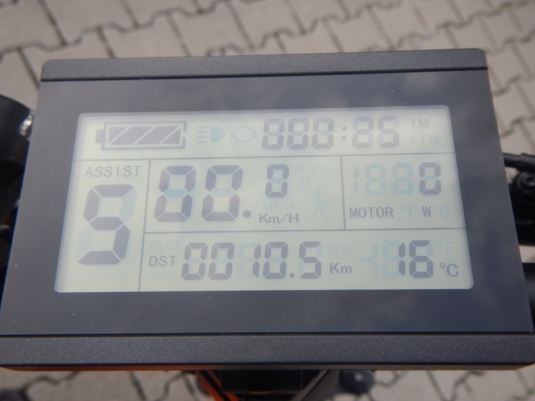 Unibike LCD Anzeige